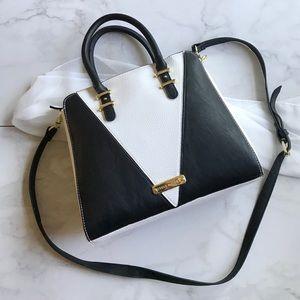 Steve Madden Black And White Mini Satchel Bag